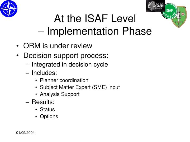 At the ISAF Level