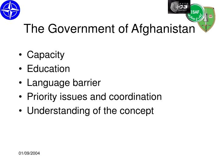 The Government of Afghanistan