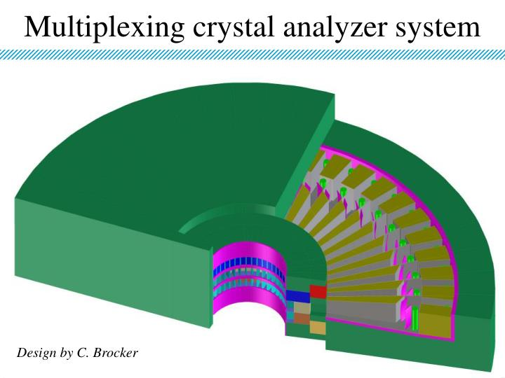Multiplexing crystal analyzer system