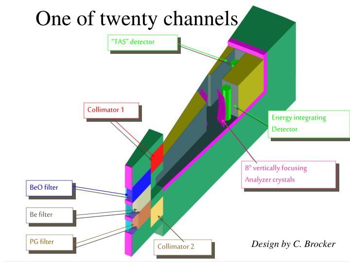 One of twenty channels