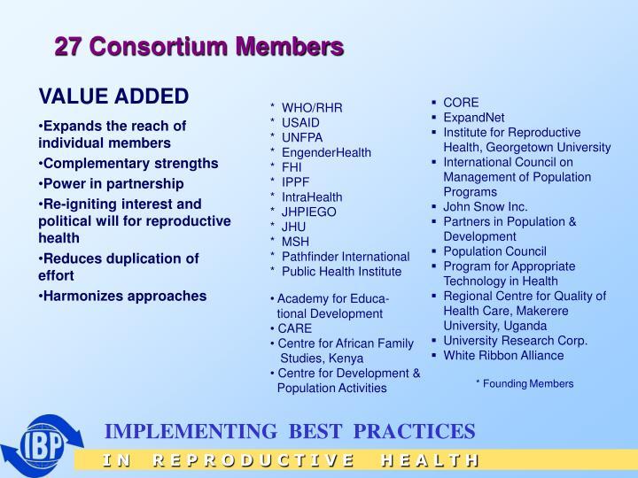 27 Consortium Members