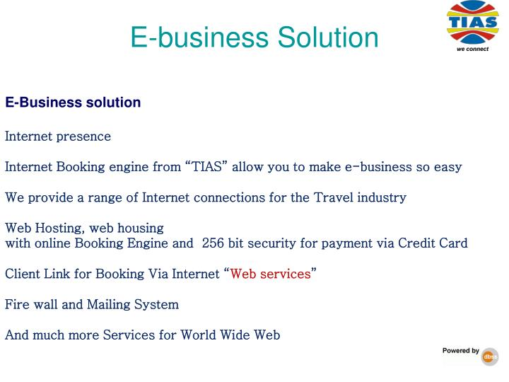 E-business Solution
