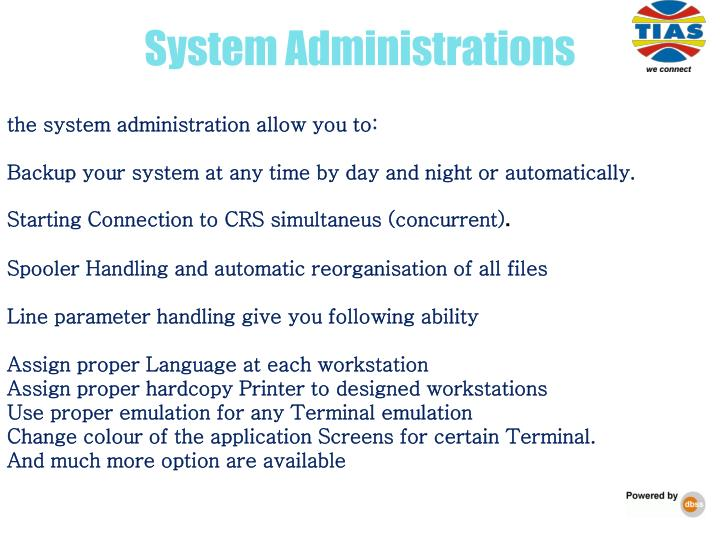 System Administrations