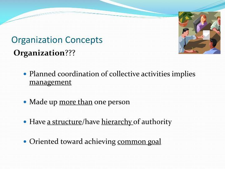 Organization Concepts