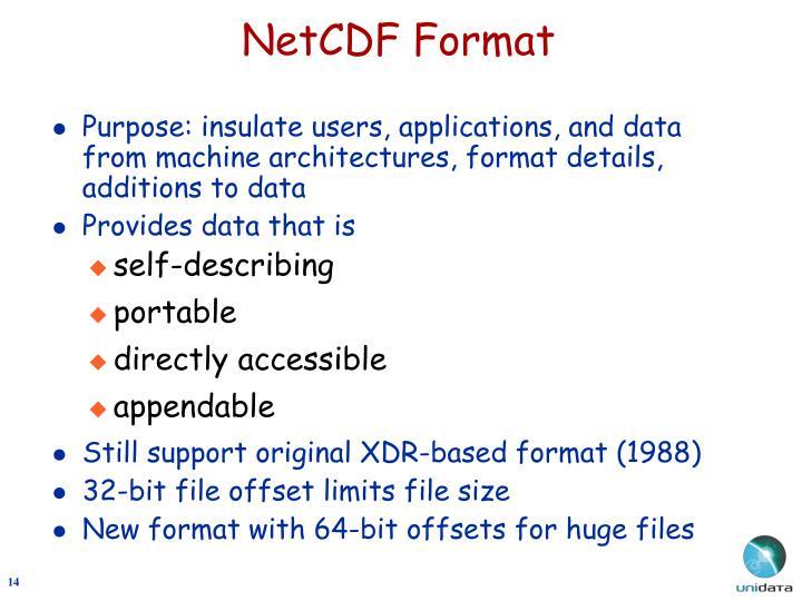 NetCDF Format