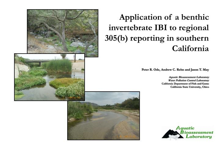 Application of a benthic invertebrate IBI to regional 305(b) reporting in southern California