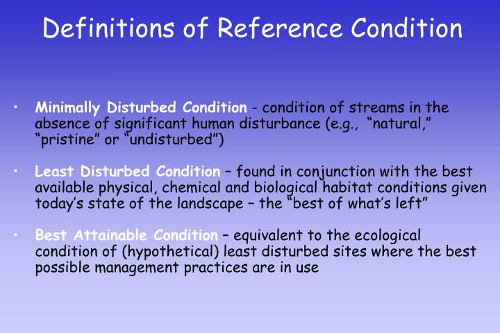 Definitions of Reference Condition