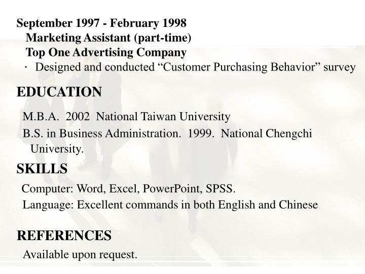 September 1997 - February 1998