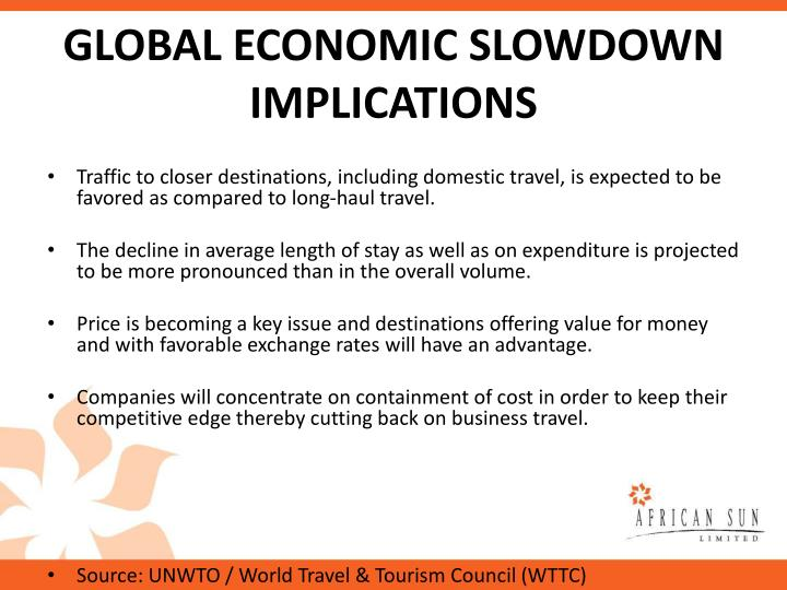 GLOBAL ECONOMIC SLOWDOWN IMPLICATIONS