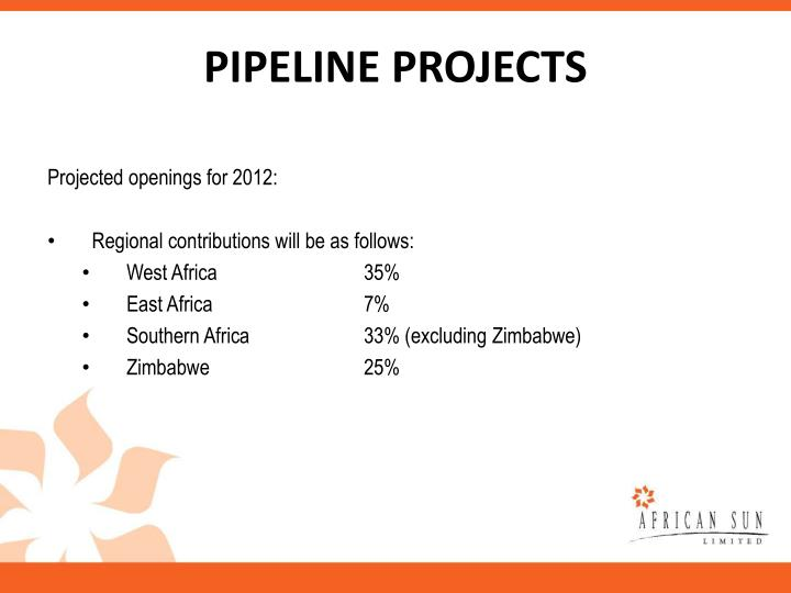 PIPELINE PROJECTS