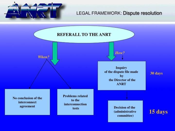 LEGAL FRAMEWORK: