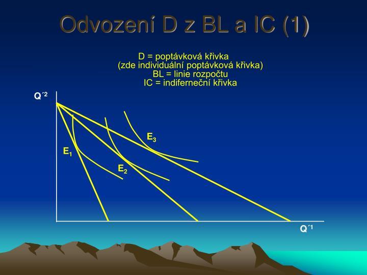 Odvození D z BL a IC (1)