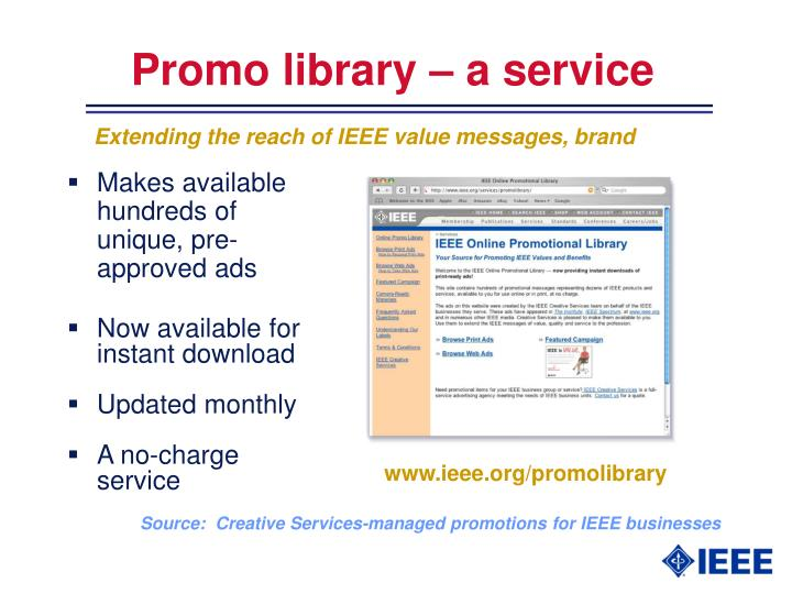 Promo library – a service
