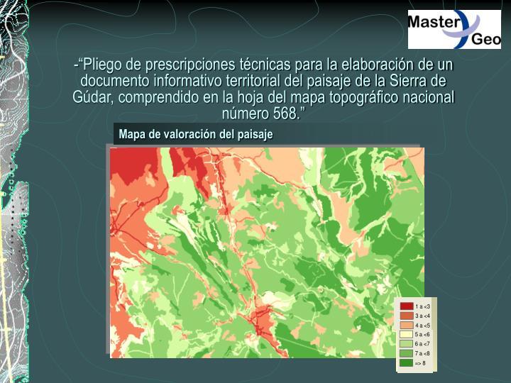 Mapa de valoración del paisaje