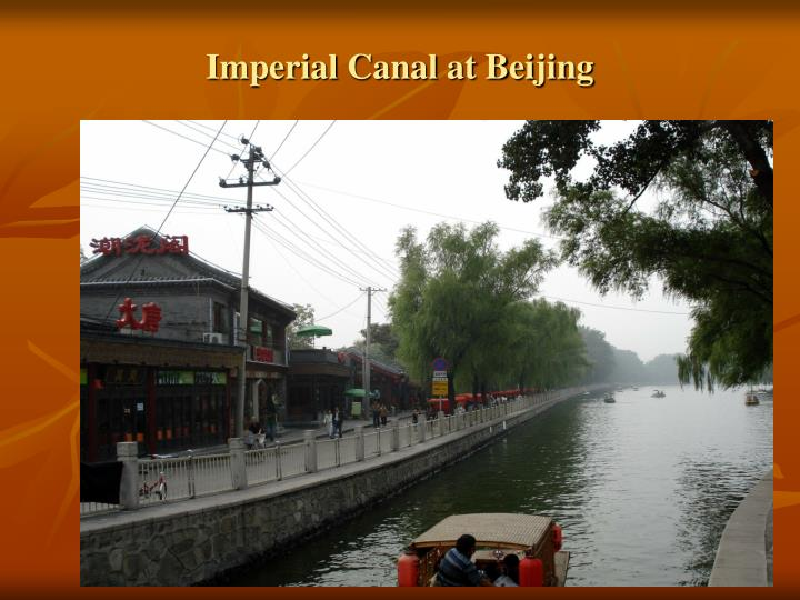 Imperial Canal at Beijing
