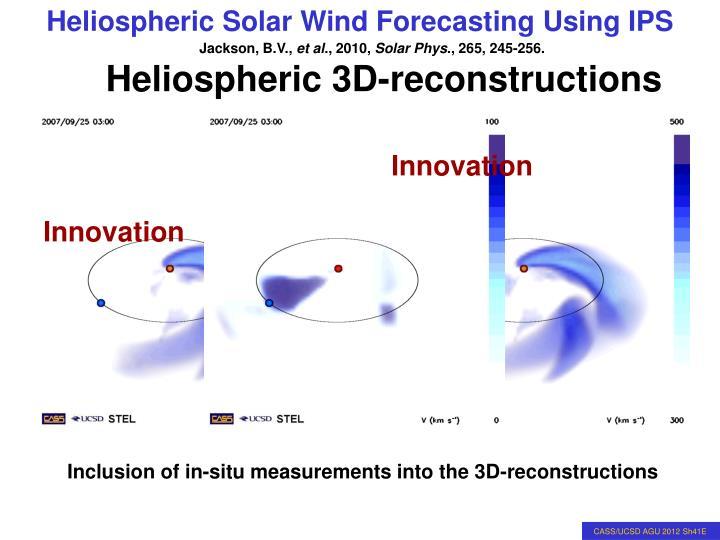 Heliospheric 3D-reconstructions