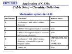 application of camx camx setup chemistry definition2