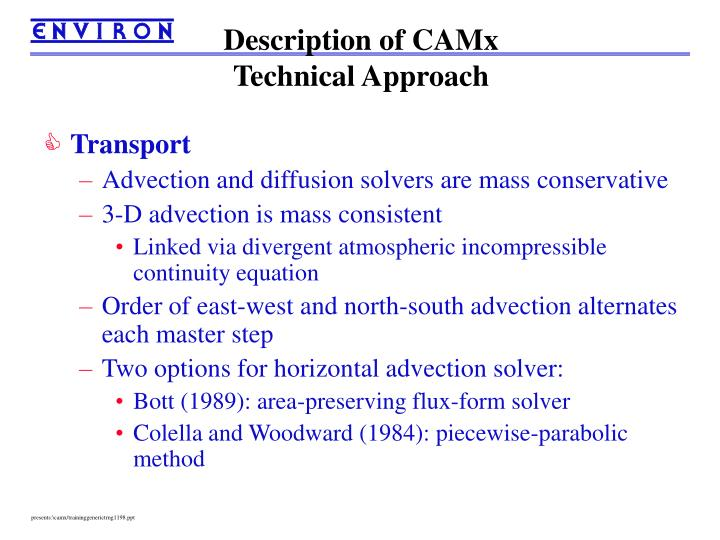 Description of CAMx