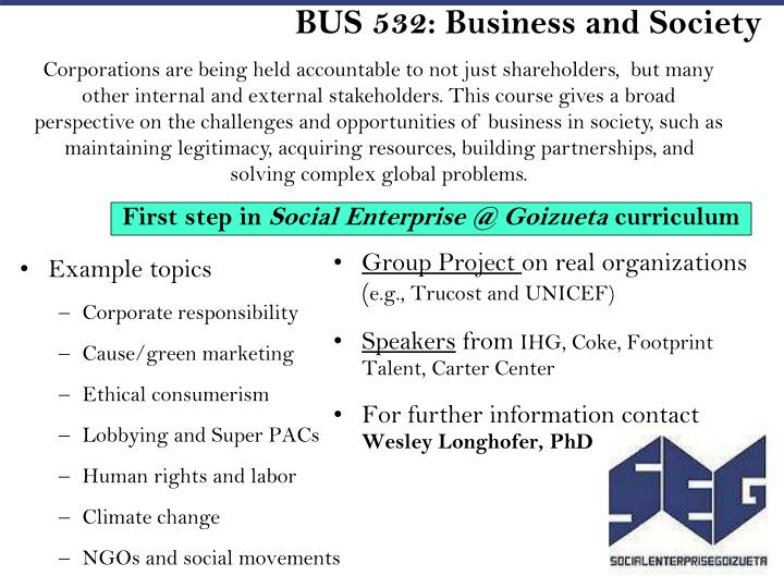 BUS 532: Business and Society