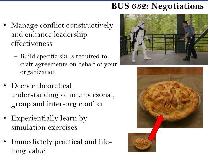 BUS 632: Negotiations