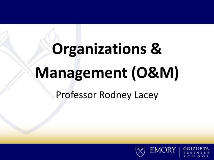 Organizations &