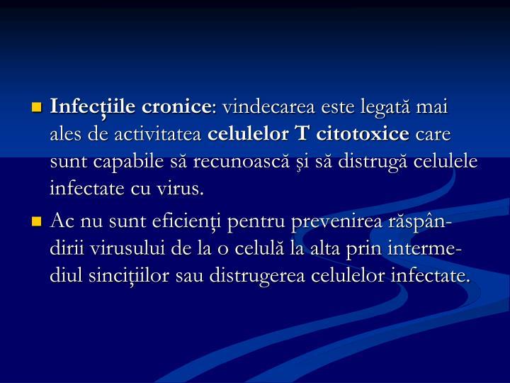 Infecţiile cronice