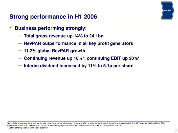 Strong performance in h1 2006
