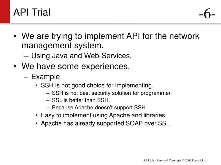 API Trial