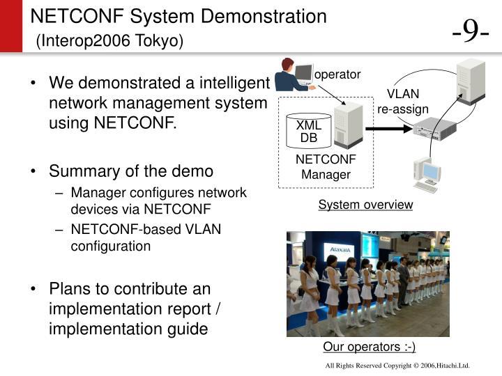 NETCONF System Demonstration