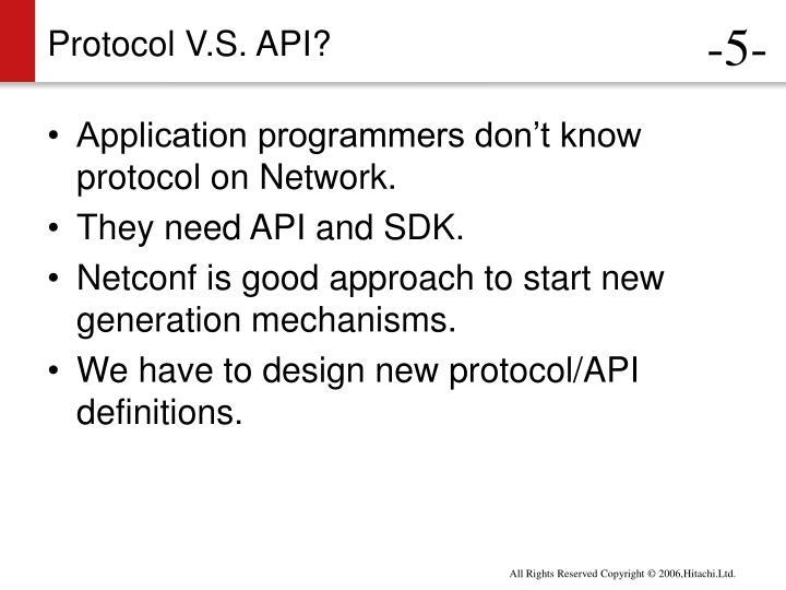Protocol V.S. API?