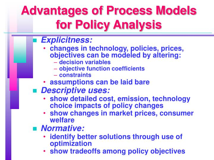 Advantages of Process Models for Policy Analysis