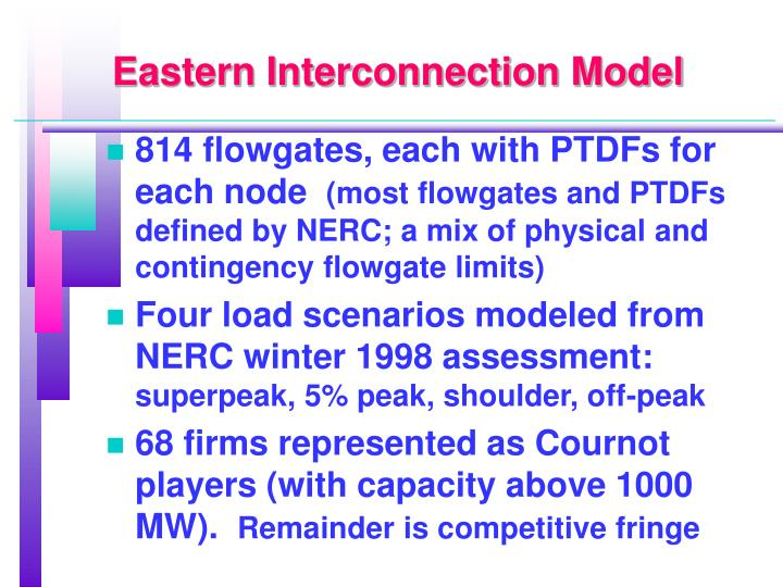 Eastern Interconnection Model