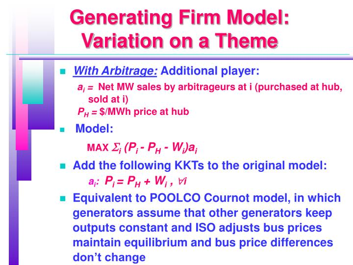 Generating Firm Model: