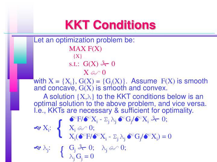 KKT Conditions