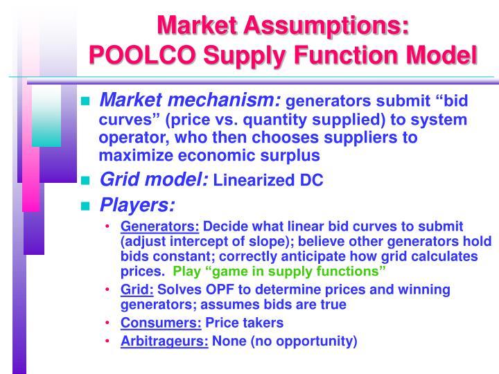 Market Assumptions:
