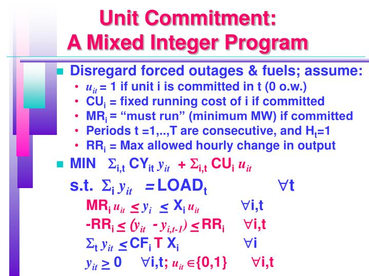 Unit Commitment: