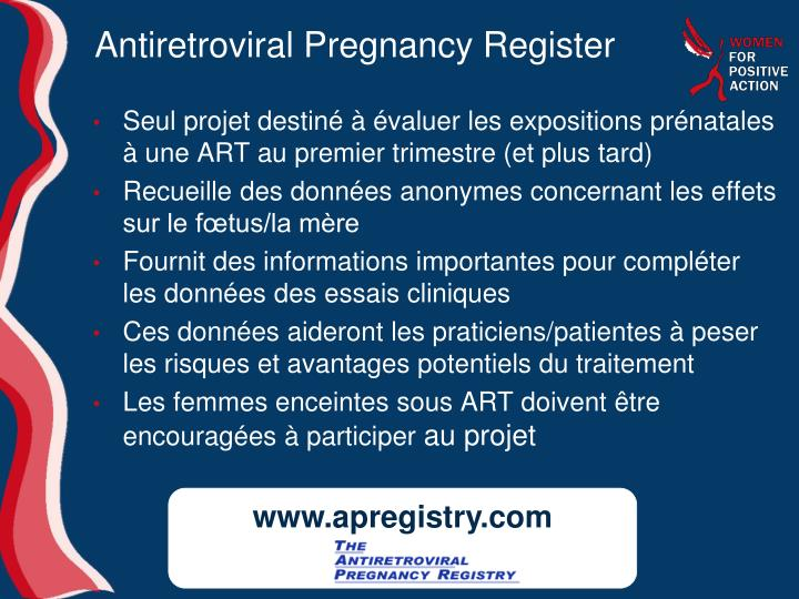 Antiretroviral Pregnancy Register