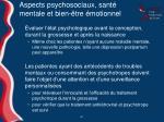 aspects psychosociaux sant mentale et bien tre motionnel