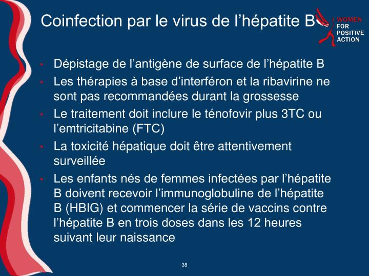 Coinfection par le virus de l'hépatite B