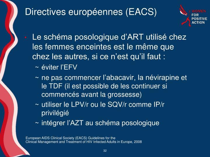 Directives européennes (EACS)