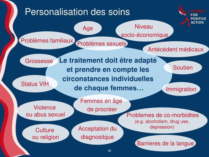 Personalisation des soins