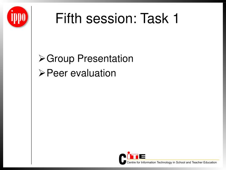 Fifth session: Task 1