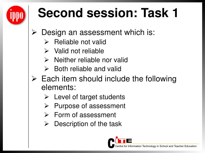 Second session: Task 1