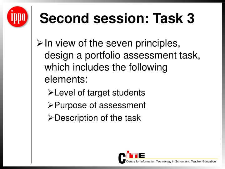 Second session: Task 3
