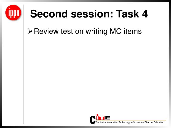 Second session: Task 4