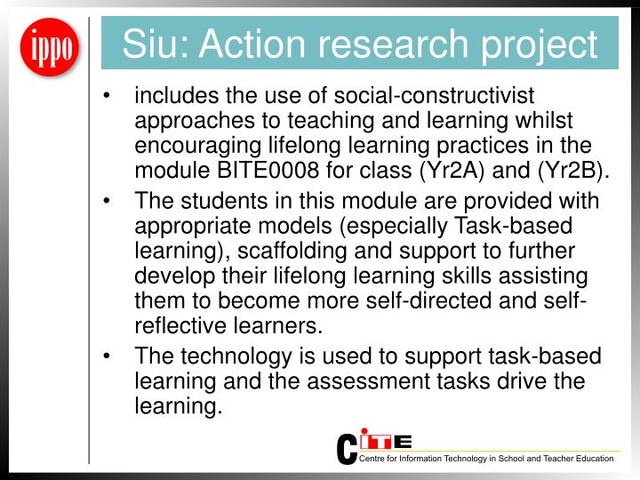 Siu: Action research project
