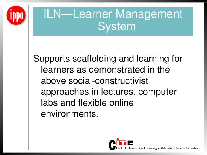 ILN—Learner Management System