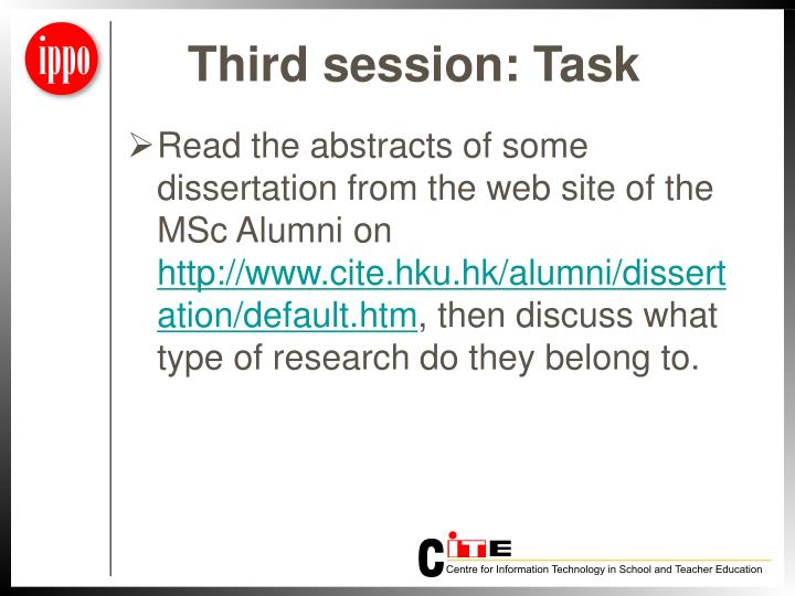 Third session: Task