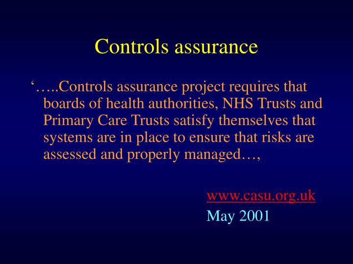 Controls assurance