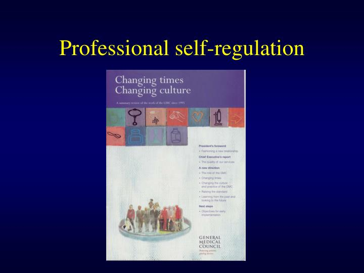 Professional self-regulation
